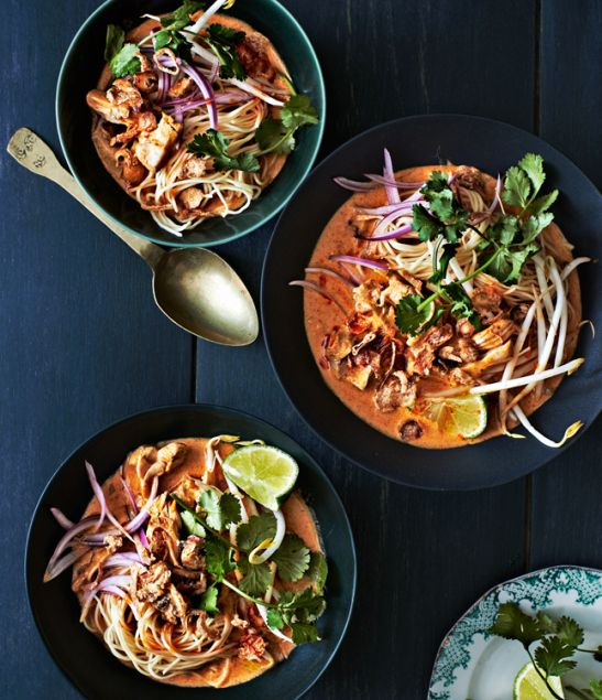 This is my favorite curry dish to make at home! Chicken Khao Soi!