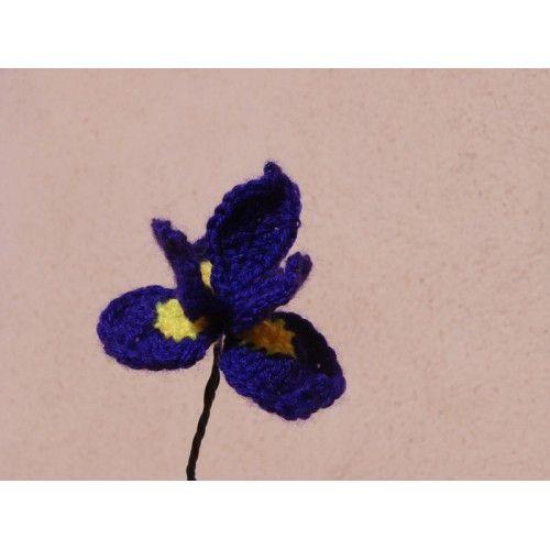 Crochet Iris Flower Pattern : Free PDF PATTERN ~ Iris CROCHET.flowers Pinterest