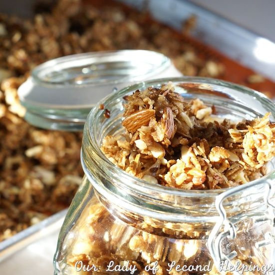 Coconut-Almond Granola | Recipes I'm willing to try | Pinterest