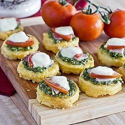 Pesto Polenta Appetizers