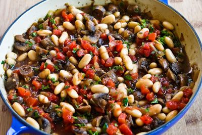 Mushroom, White Bean, and Tomato Stew with Parmesan | Yummy Recipes ...
