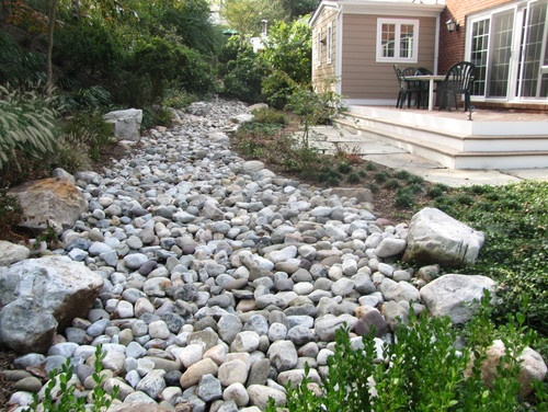 dry river bed Garden Hardscapes Structures Pinterest