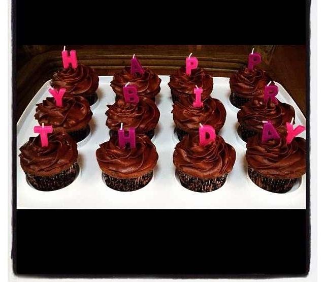 Happy birthday chocolate cupcakes   food   Pinterest