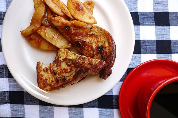 Cinnamon Apple Walnut Stuffed French Toast