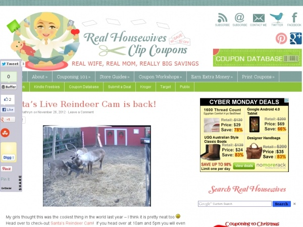 Santa s live reindeer cam is back christmas with the kiddos