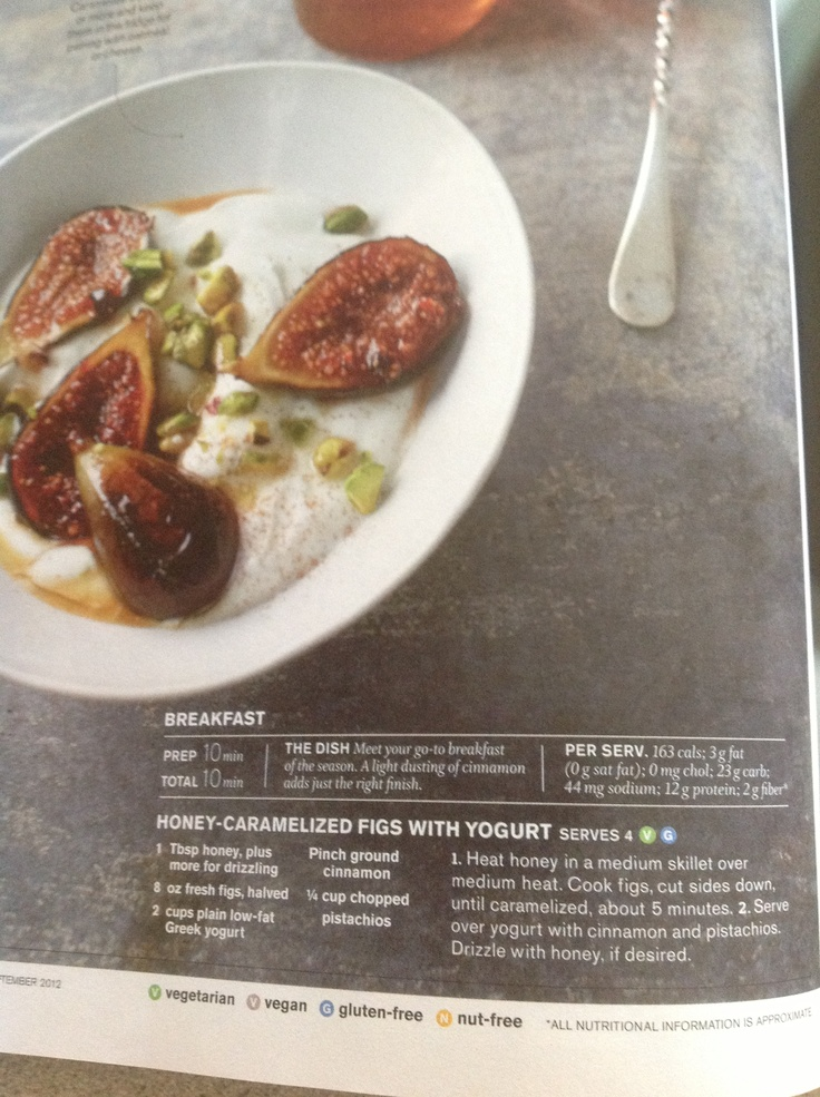 Caramelized figs with yogurt | Recipes: Sweet Treats | Pinterest