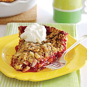 Cherry Crumb Pie...my 15 year old son is making two of these right now ...