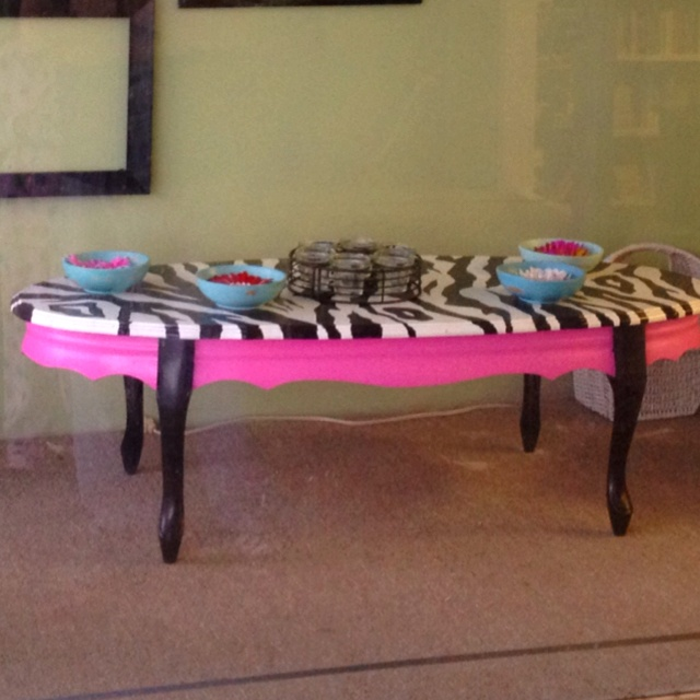 Hand Painted Zebra Print Coffee Table Zebra Pinterest