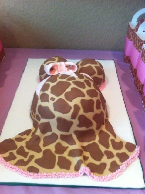 giraffe print dress baby bump cake baby shower cakes pinterest