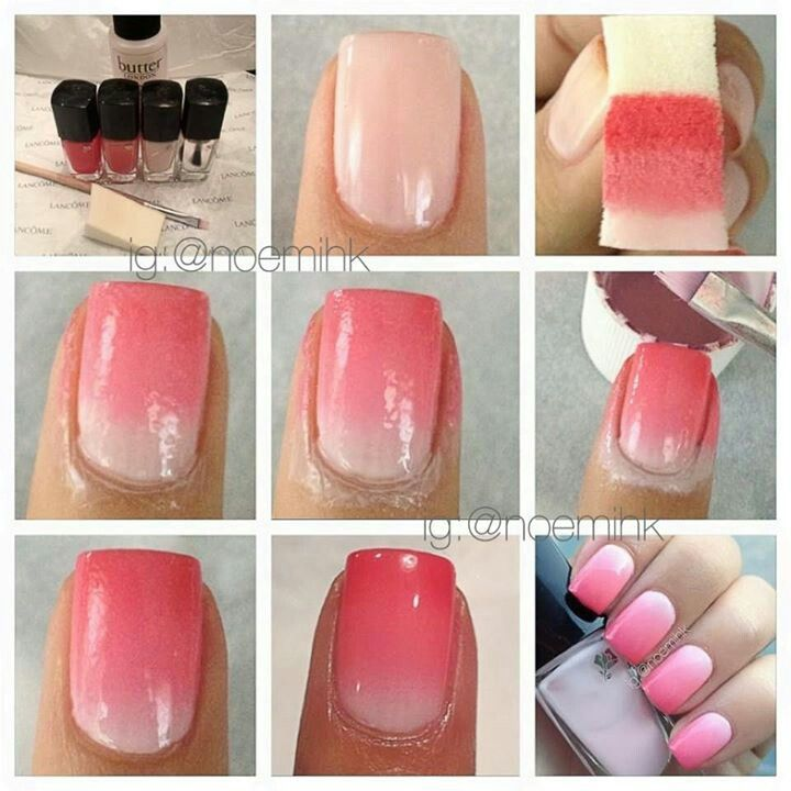 Ombre Nails Tutorial Ombre Nails With Sponge