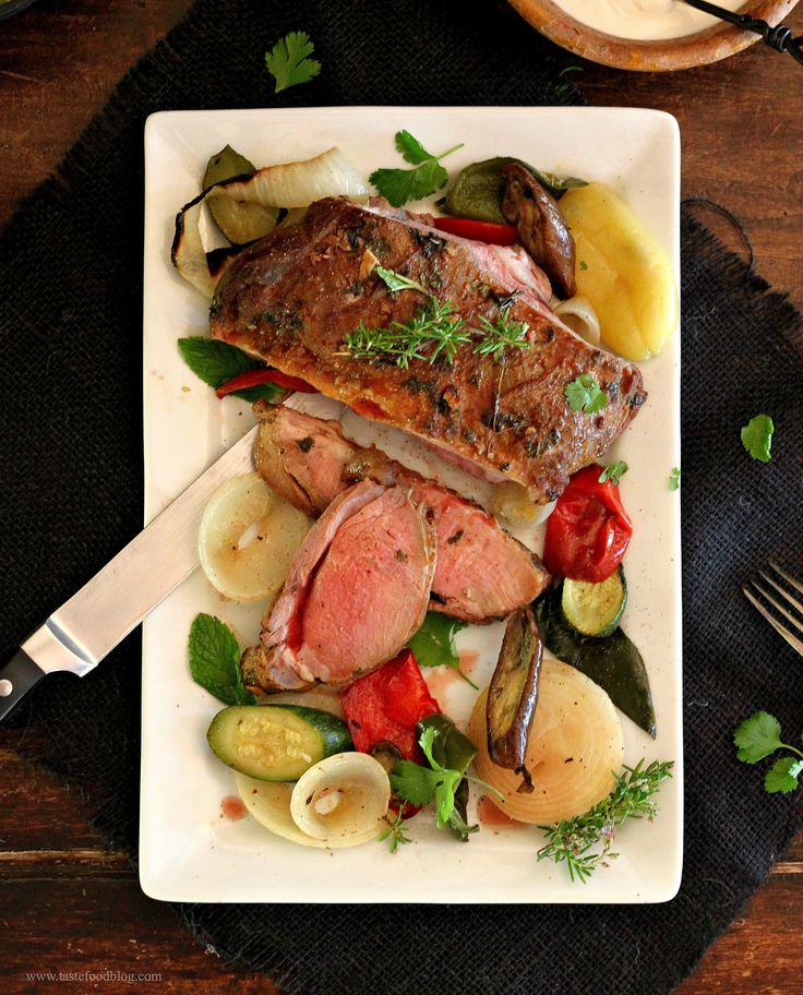 Moroccan Spiced Leg of Lamb with Roasted Vegetables