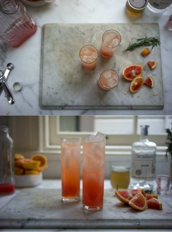 Blood Orange Gin Sparkler | Drink Cooking Club Ideas | Pinterest