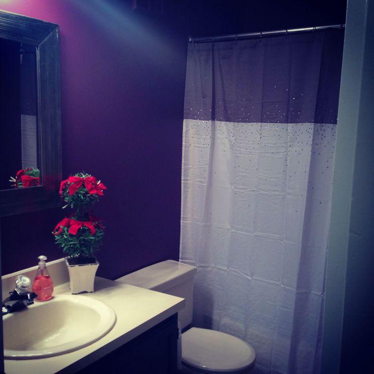 Benjamin moore eggplant bathroom for the home pinterest for Aubergine bathroom ideas