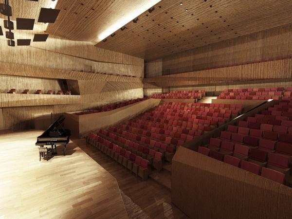 Visualizations of Filharmony in Koszalin, Poland by Nina Gruszczynska, via Behance