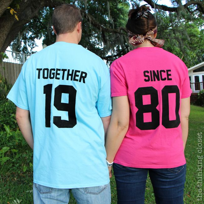 """Together Since"" T-Shirts: Creative Anniversary Gift Idea #wedding #diy"