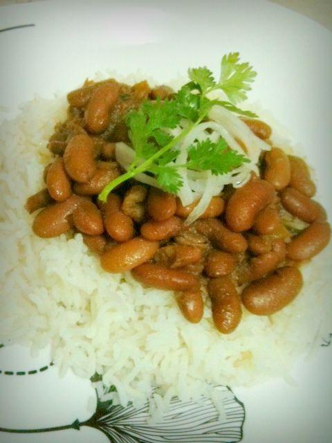 Red kidney bean curry | vegrecipes regional | Pinterest