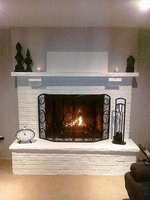 painted fireplace horn house ideas