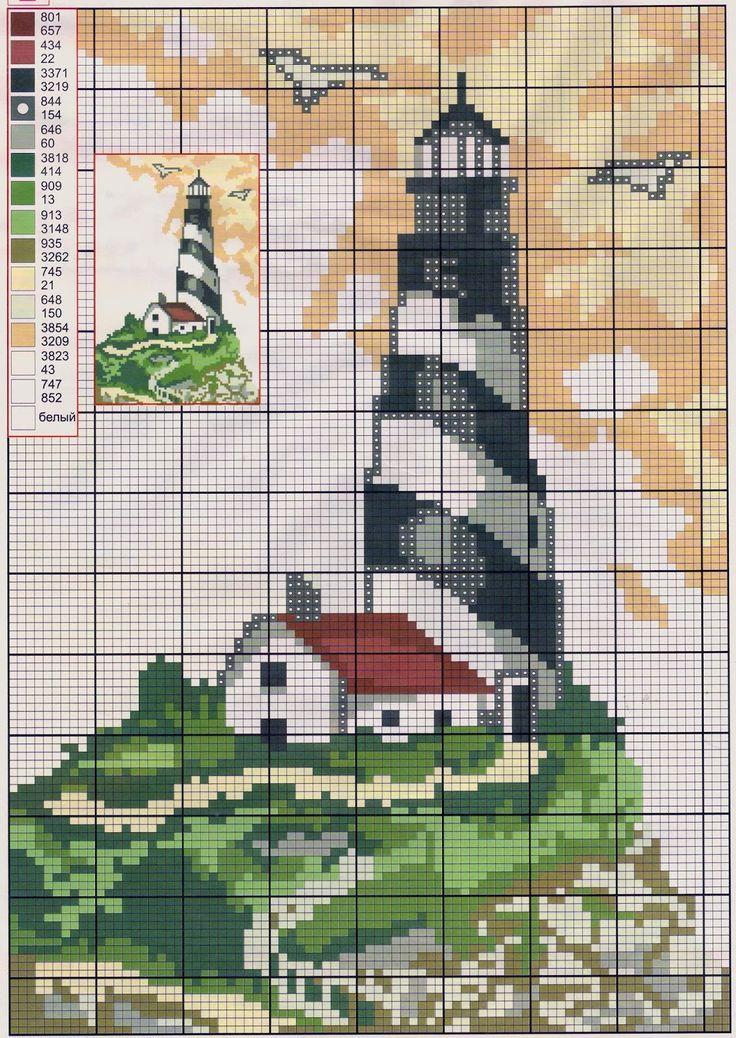 Схемы вышивок крестом маяк 726