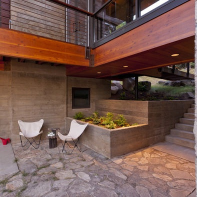 Modern Home Walkout Basement Design Outdoors Pinterest
