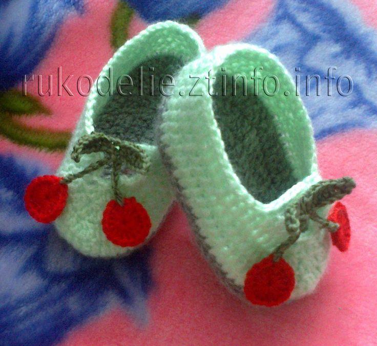 Вязание спицами кеды детские