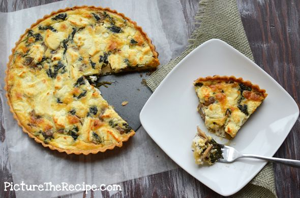 spinach mushroom and goat cheese quiche