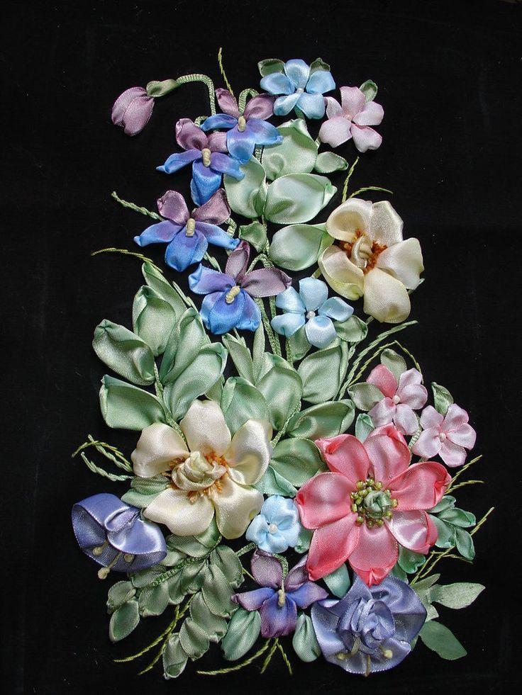 Ribbon embroidery pinterest