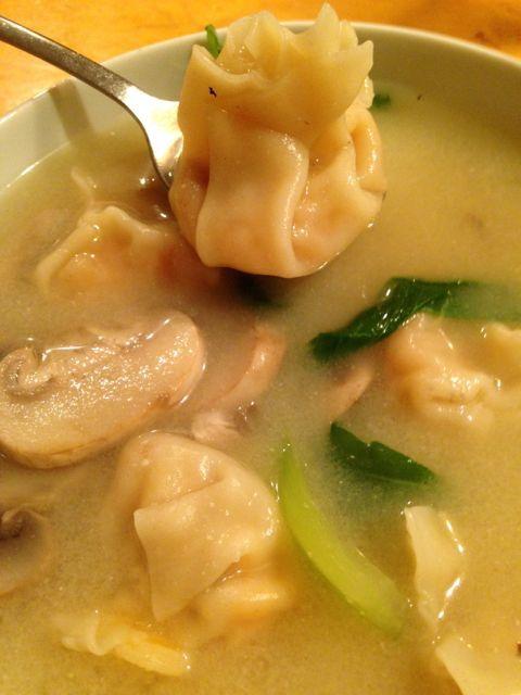 Miso Soup with Sweet Potato Dumplings