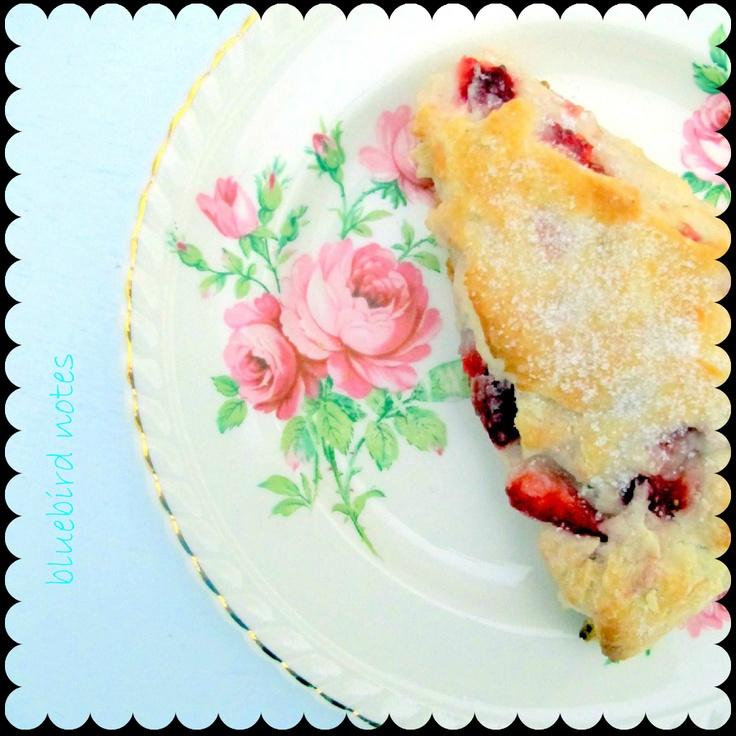 fresh strawberry scone
