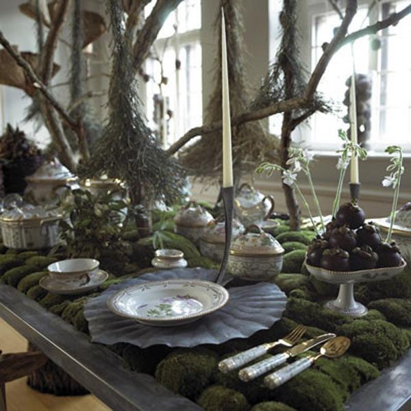 organic table setting