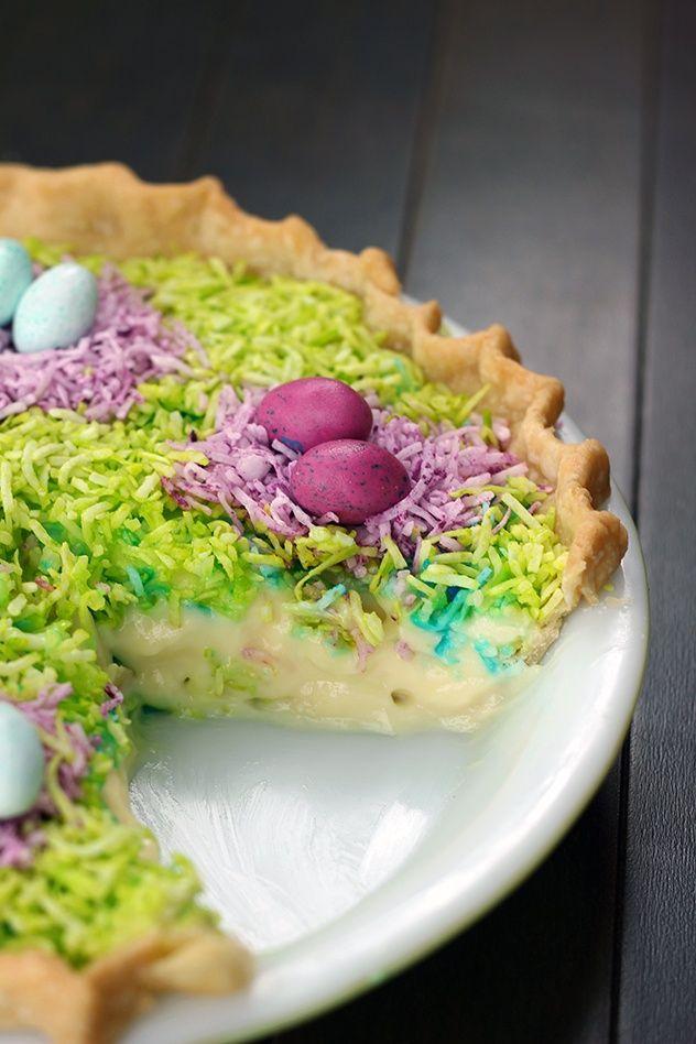 Coconut Custard Easter Pie | Easter | Pinterest