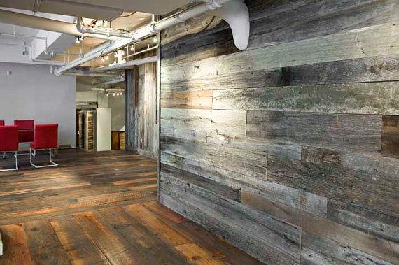 Reclaimed wood wall floor coverings for Hardwood floor covering