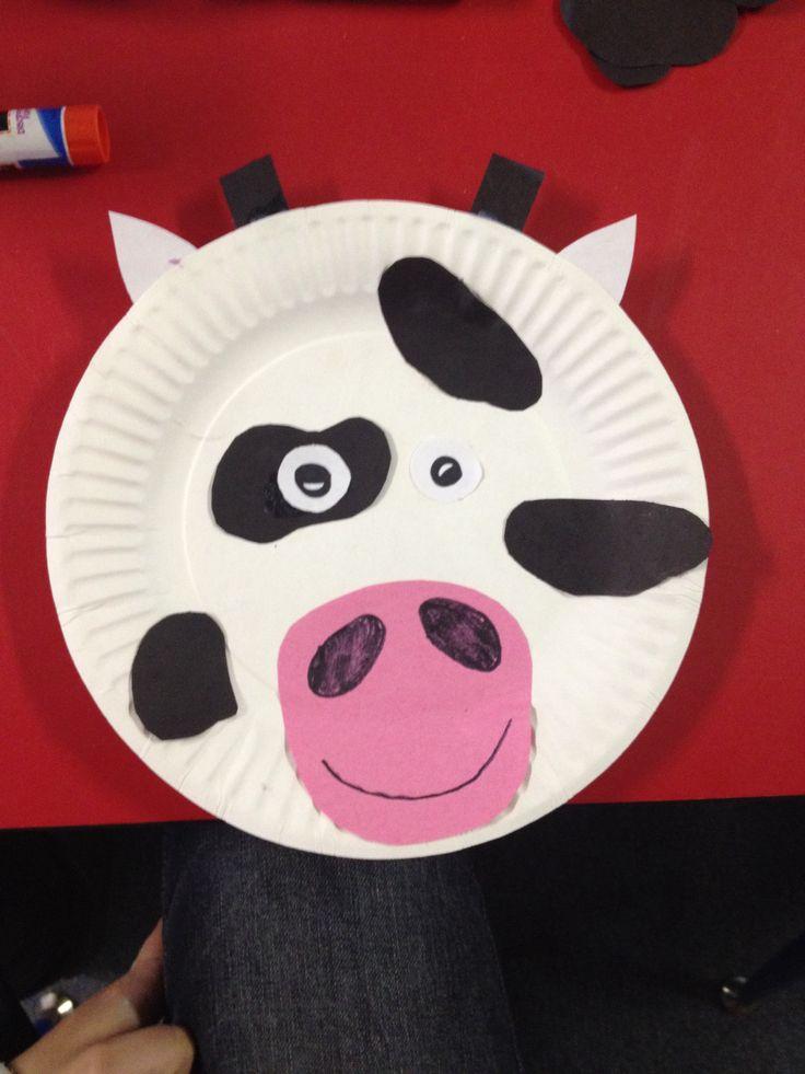 Paper Plate Cow Preschool Info Pinterest & Cow Paper Plates - Castrophotos