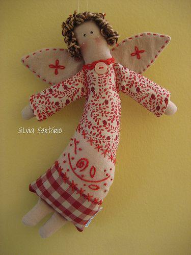 Текстильные ангелы с выкройками