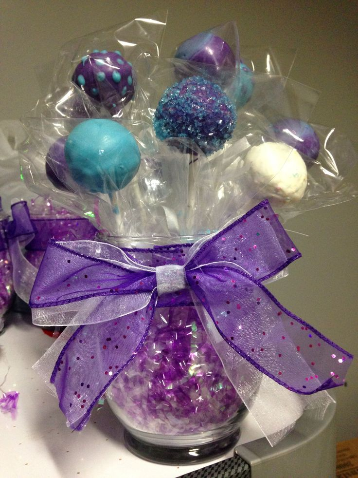 Cake pop centerpiece bouquet First Communion ...