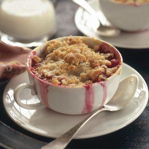 Strawberry and Rhubarb Crumble www.williams-Sonoma.com Click recipes ...