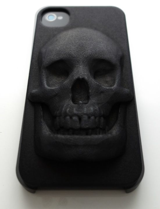 Case Design 3d printer for phone cases : skull iPhone case made by 3D printing : anatomy : Pinterest