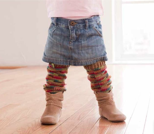 Free Crochet Patterns For Little Girl Leg Warmers : Book Review & Project: Cozy Crawlers Leg Warmers from ...