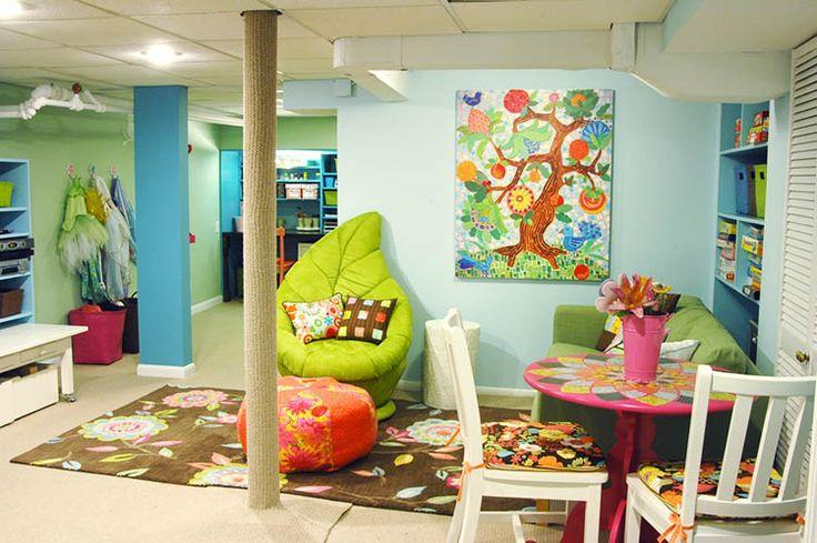 kids playroom ideas basement playroom