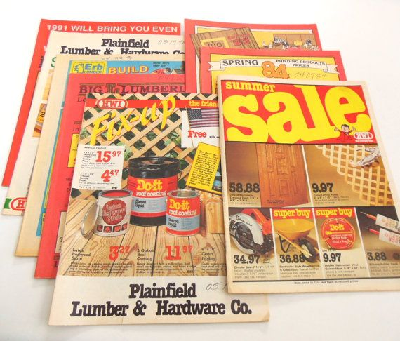 Hardware Tool Catalogs Home Improvement 1980s 1991 Vintage