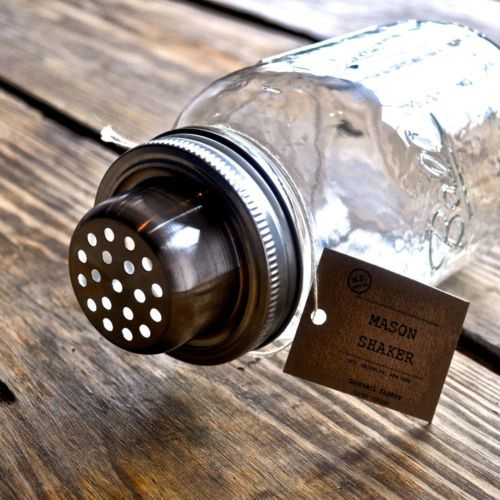 A cocktail shaker inspired by the classic Southern icon - the Mason jar. American Made in Brooklyn, NY.