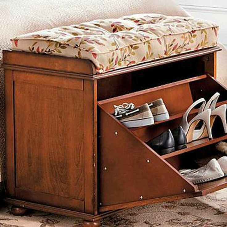 Shoe storage bench cushion skymall interior design pinterest Shoe storage bench with cushion