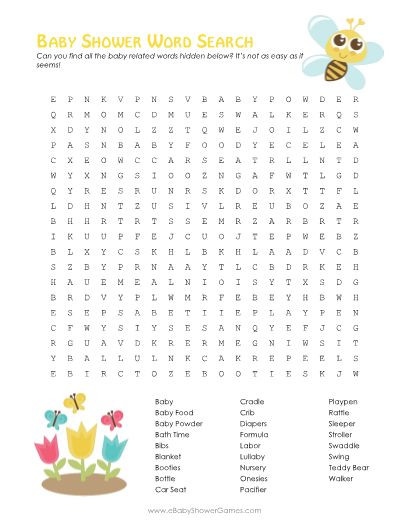 baby shower word search 3 versions baby shower fun pinterest