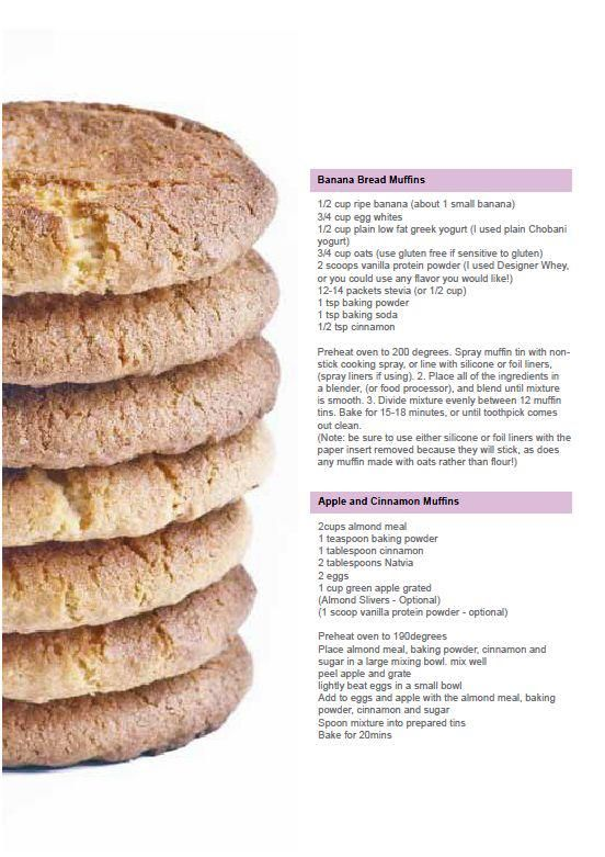... Banana Bread Muffins- this recipe looks delicious! Includes protein