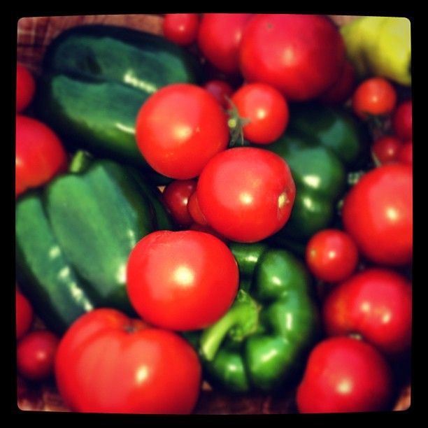 Tomatoes and peppers | HEALTHY HEALTHY | Pinterest