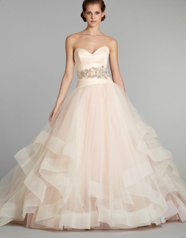 Pale Pink Wedding Dress Kleinfeld : Light pink wedding dresses dress