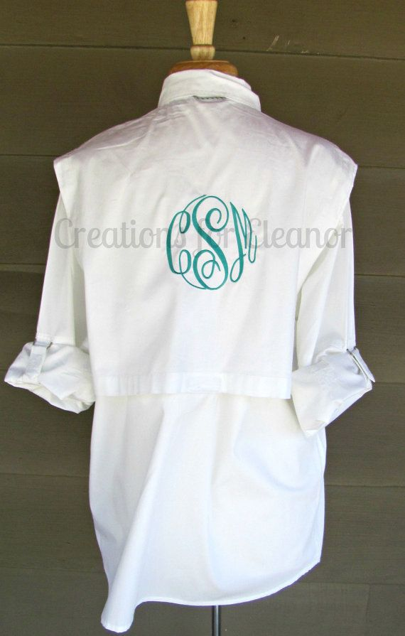 Women 39 s monogrammed fishing shirt cover up for Fishing shirts for women