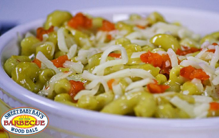 ... Mac A poblano pepper infused cheese sauce with elbow macaroni