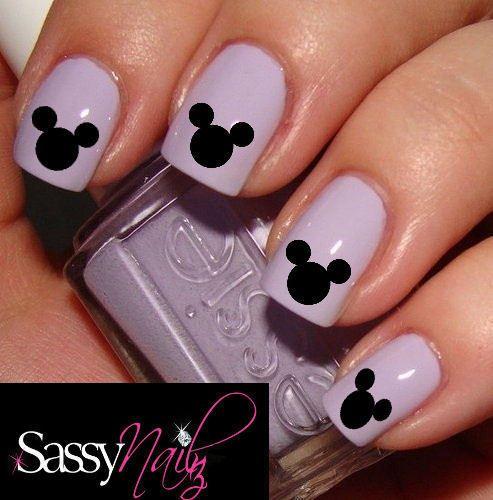 Mickey Mouse Nail Art | Mickey Mouse Disney Head nail art decal water ...