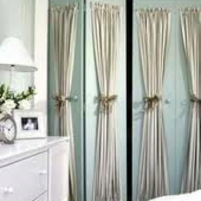 Curtains on closet doors all things faith pinterest