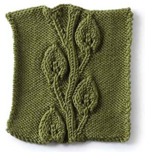 Vogue Knitting Leaf Blanket Pattern : Embossed vine and leaves pattern Knitting For Dummies ...